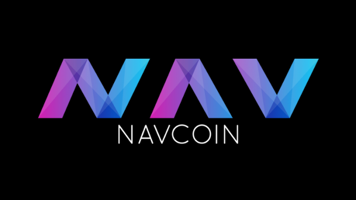 Navcoin logo on a black background