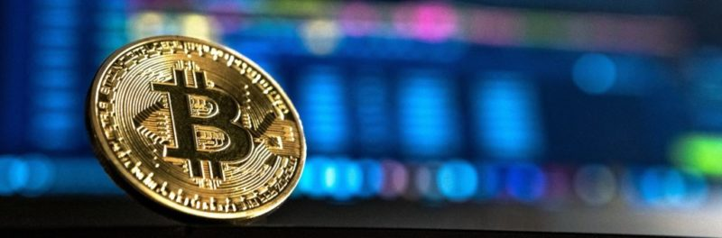 bitcoin-with-stock-market-infographics-background