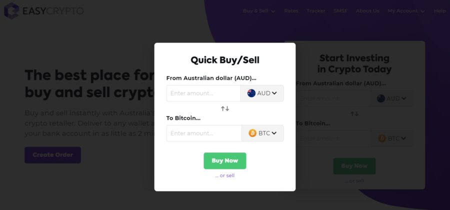 Easy Crypto quick buy/sell pop-up for Digibyte.